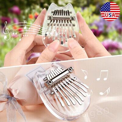 8 Key Kalimba Keyboard Thumb Piano Finger Hand Piano Music Instrument Best Gift