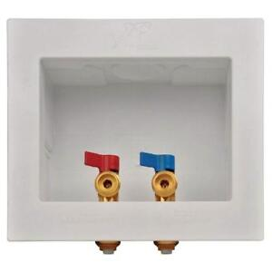 NEW Sharkbite 24763A Washing Machine Outlet Box, 1/2 inch x 3/4 inch MHT, Push-to-Connect