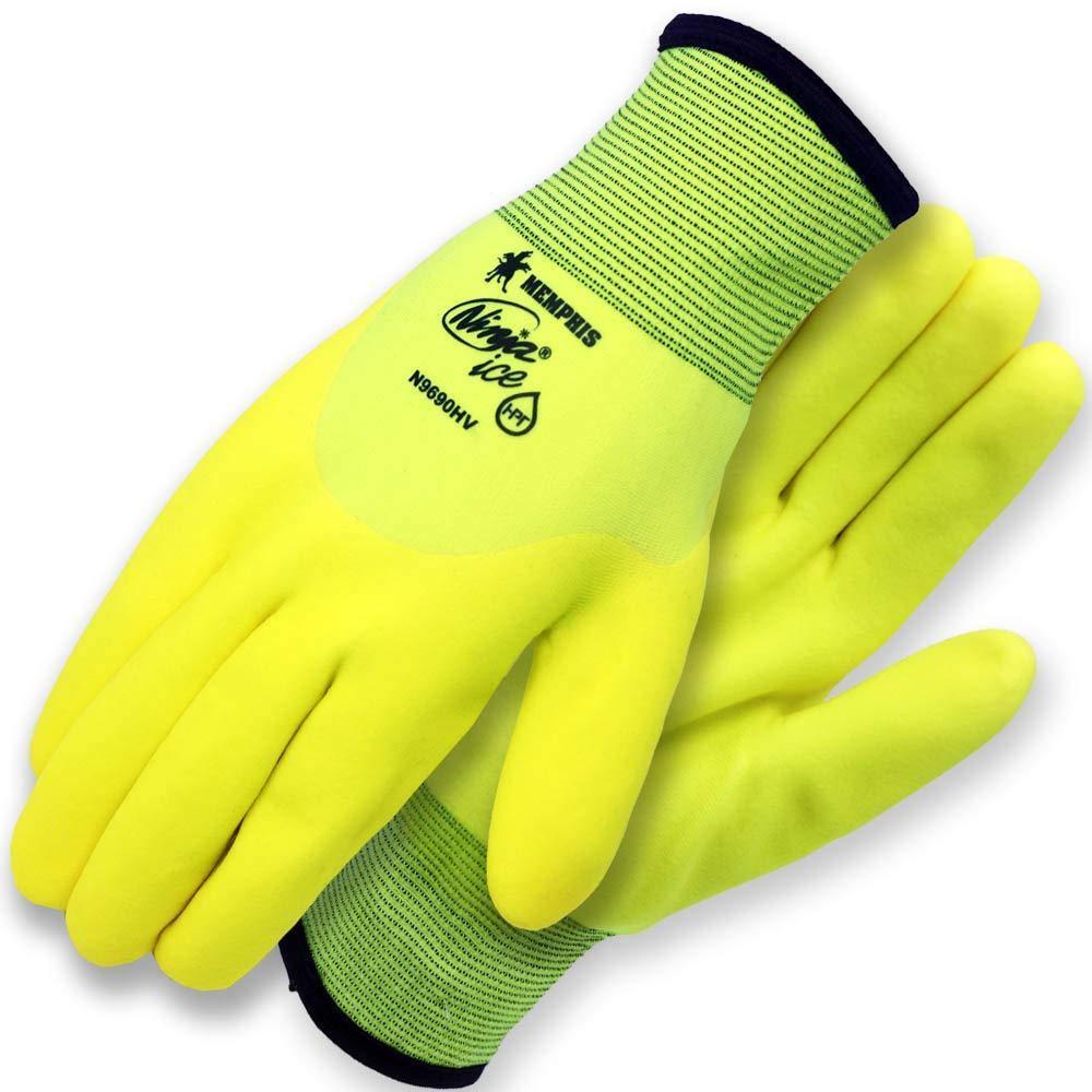 Memphis 9690 Hi-Viz Lime Green Ice Weather Gloves Size M-2XL Business & Industrial