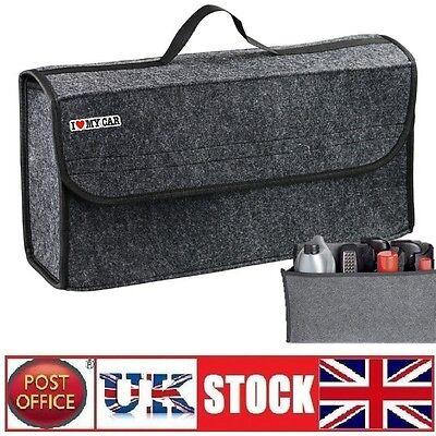Boot Organiser Large Car Vehicle Carpet Storage Bag Tools Boot Tidy Velcro