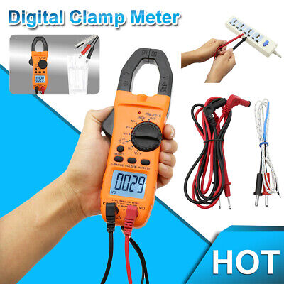 6000 Counts Clamp Multimeter Digital Auto-ranging Meter Tester Ac Dc Current Usa