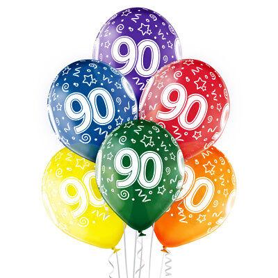 Set 90. Geburtstag 30 cm Luftballon 90th Birthday 90 Jahre (90 Th Geburtstag)