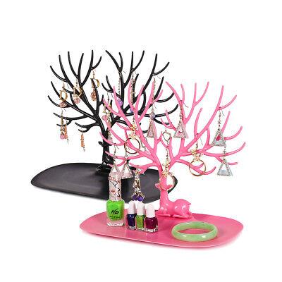 Little Deer Earrings Necklace Ring Jewelry Display Stand Tray Tree Storage Racks