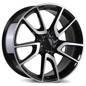 "Replica 19"" Wheel Set Audi A3 A4 A6 A8 S4 S5 Volkswagen Jetta Golf Gloss Black Machined Face 5x112 +40mm Wheels Mag 19"
