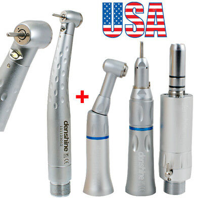 Dental High Low Speed Handpiece Kit Push Button 2hole Egenerator Led Fit Nsk Fda