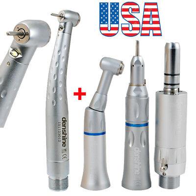 Dental High Low Speed Handpiece Kit Push Button 2hole Egenerator Led Fda