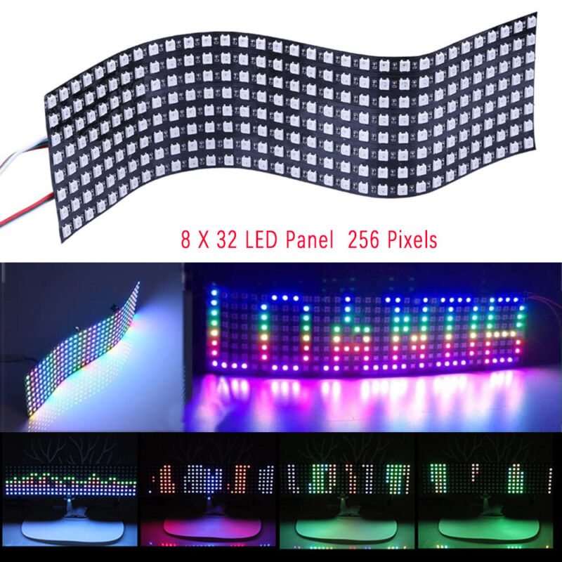 256 LED Matrix Panel WS2812 5050 RGB LED Module Indoor screen Addressable 8*32