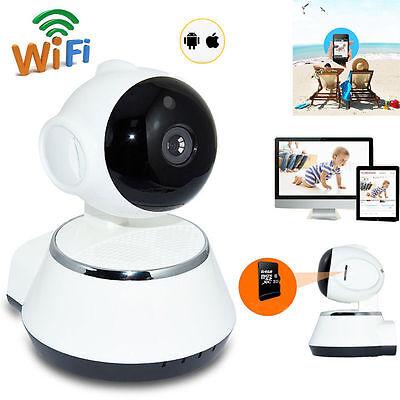 Wireless 720P Pan Slant Network Home CCTV IP Camera IR Night Vision WiFi Webcam