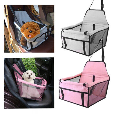 Portable Dog Car Seat Belt Booster Travel Carrier Folding Bag for Pet Cat Puppy Dog Cat Travel Carrier