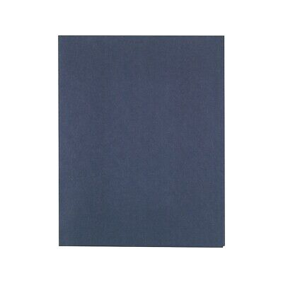 Staples School Grade 2 Pocket Folder With Fasteners Navy 25bx 578553