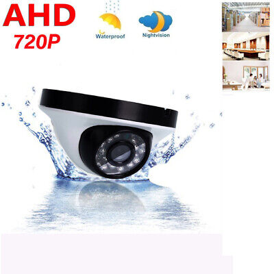 720P AHD Outdoor Waterproof Security CCTV Wired Dome Camera IR-CUT Video Monitor