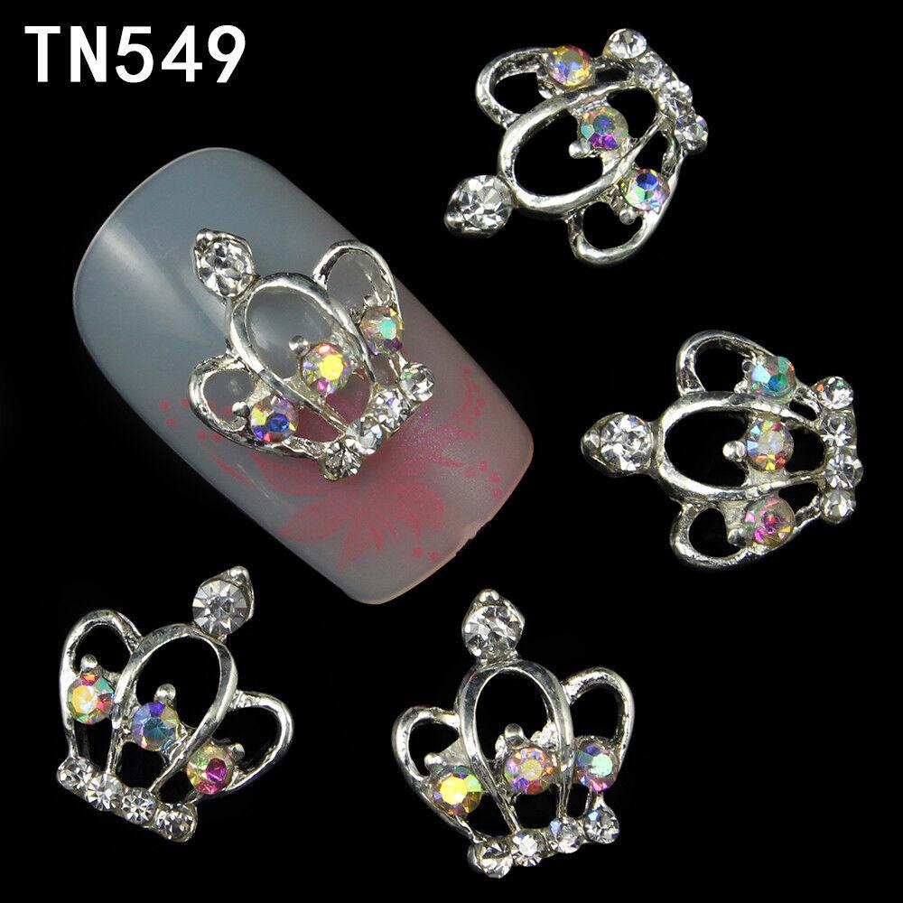 CORONCINE Gioiello per unghie in metallo e strass CROWN nail art metal jewels