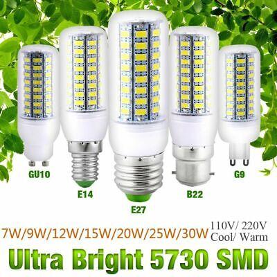 Standard 27 (E27 E14 LED Mais Birne Lampe Licht Maiskolben Warmweiss Kaltweiss 9W 15W 25W Neu)
