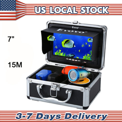 "Eyoyo 7"" 15M HD 1000TVL Fish Finder 12pcs IR Infrared Underwater Fishing Camera"