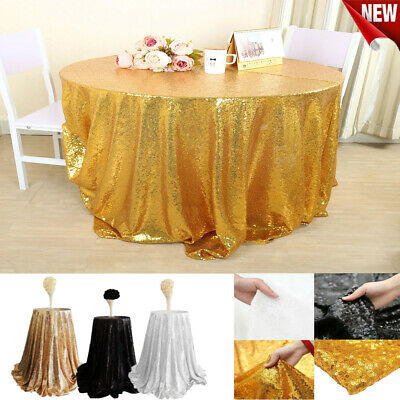 NEW Gold Round Tablecloth Wedding Party Banquet Decoration Table Cloth Cover EU - Gold Table Cloths