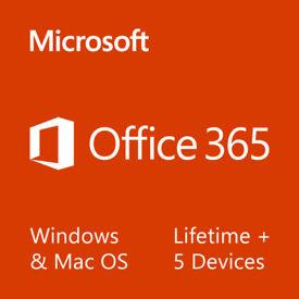 Microsoft Office 2016 365 ProPlus Lifetime License Windows, Mac & Mobile Devices