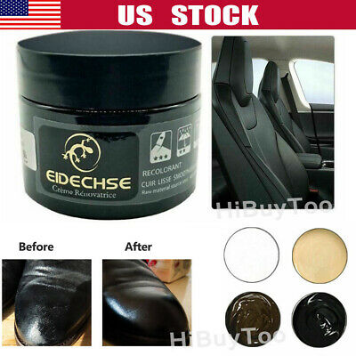 Leather Repair Filler Cream Kit Restore Car Seat Sofa Scratch Scuffs Holes 50ML