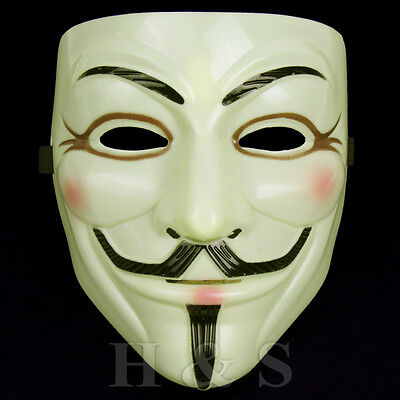 V for Vendetta Mask Guy Fawkes Anonymous Halloween Fancy Dress Costume Cosplay - Celebrities For Halloween