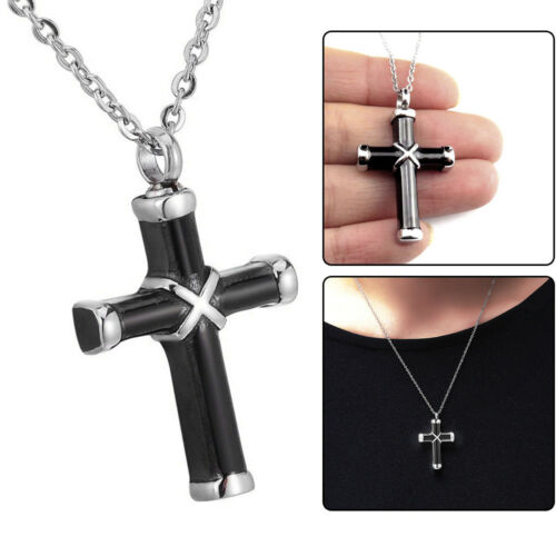 Perfect Memorials Collet Cross Stainless Steel Cremation Jewelry