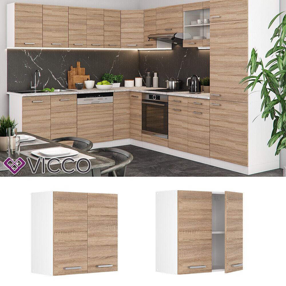 VICCO Küchenschrank Hängeschrank Unterschrank Küchenzeile R-Line Hängeschrank 60 cm sonoma