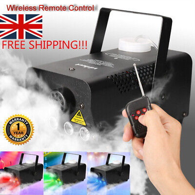 Portable 500W RGB Smoke Machine Fog Mist Effect DJ Disco Wedding Party Club KTV