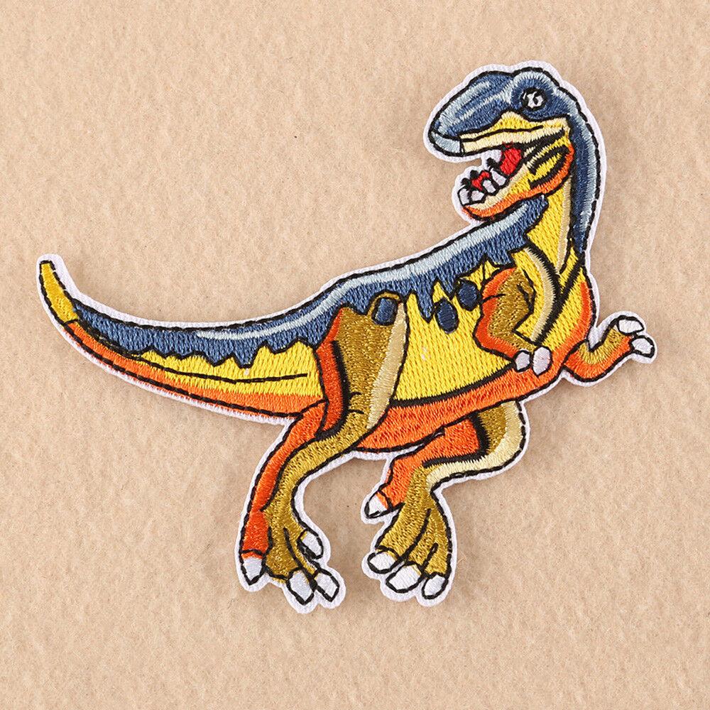 Multicolor Dinosaur Embroidery Applique DIY Personality Handwork Patch Accessory