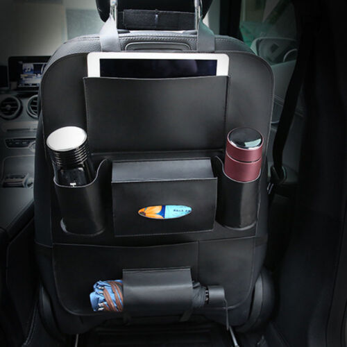 Durable Truck Car PU Leather Seat Back Organizer Cover Storage Holder Interior