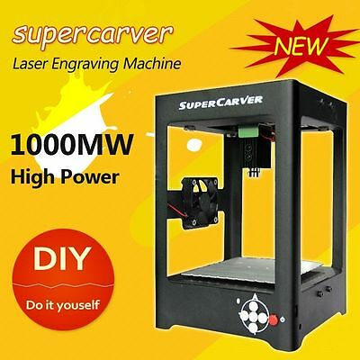 SuperCarver 1000mW Laser Engraver Printer Cutter Carver DIY Engraving Machine DE