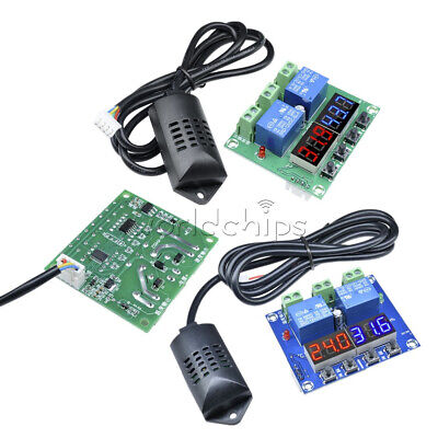 Dc12v Led Digital Display Thermostat Temperature Humidity Controller Hygrometer