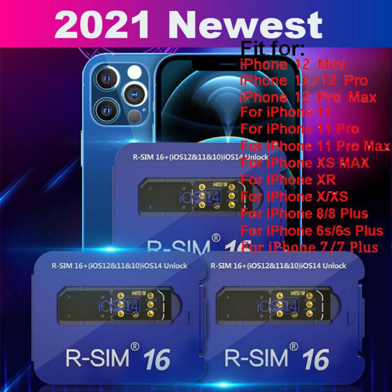 Newest 2021 R-SIM16 Nano Unlock RSIM Card for iPhone 12 11 Pro XS MAX XR X 8 7
