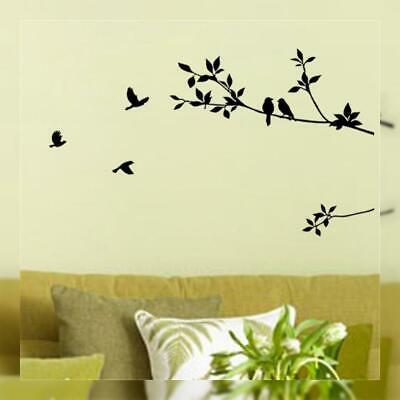 Picniva Birds Flying Tree Branches Wall Sticker Vinyl Art Decal Mural Home...  ()