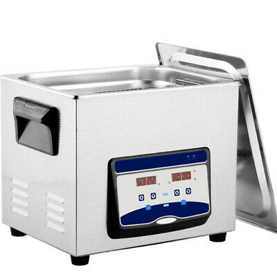6.5L Ultrasonic Cleaner Stainless Steel Industry Heated Heater w/Timer US Stock