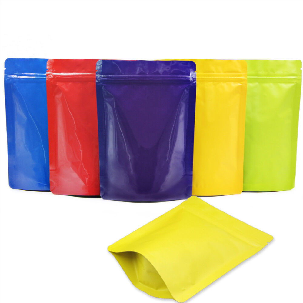 Colorful Stand Up Aluminum Foil Packaging Bags Mylar Zip Lock Food Grade Pouches