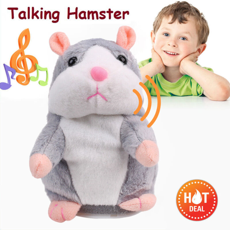 Cheeky Talking Hamster Repeats What You Say Electronic Cute Pet Plush Toy Gift