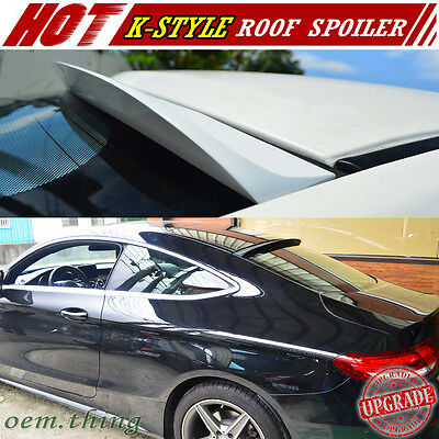 Painted Mercedes BENZ C-Class C205 Coupe K Style Roof Spoiler C250 New 15-18
