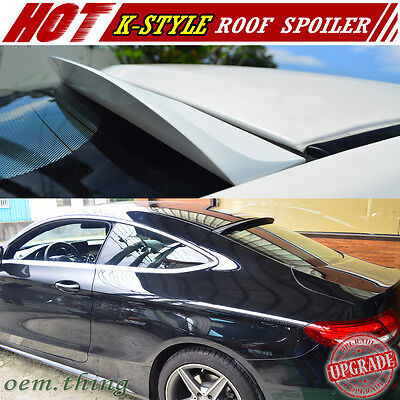 Painted For Mercedes benz C-Class C205 Coupe K Style Roof Spoiler C250 New 15-18