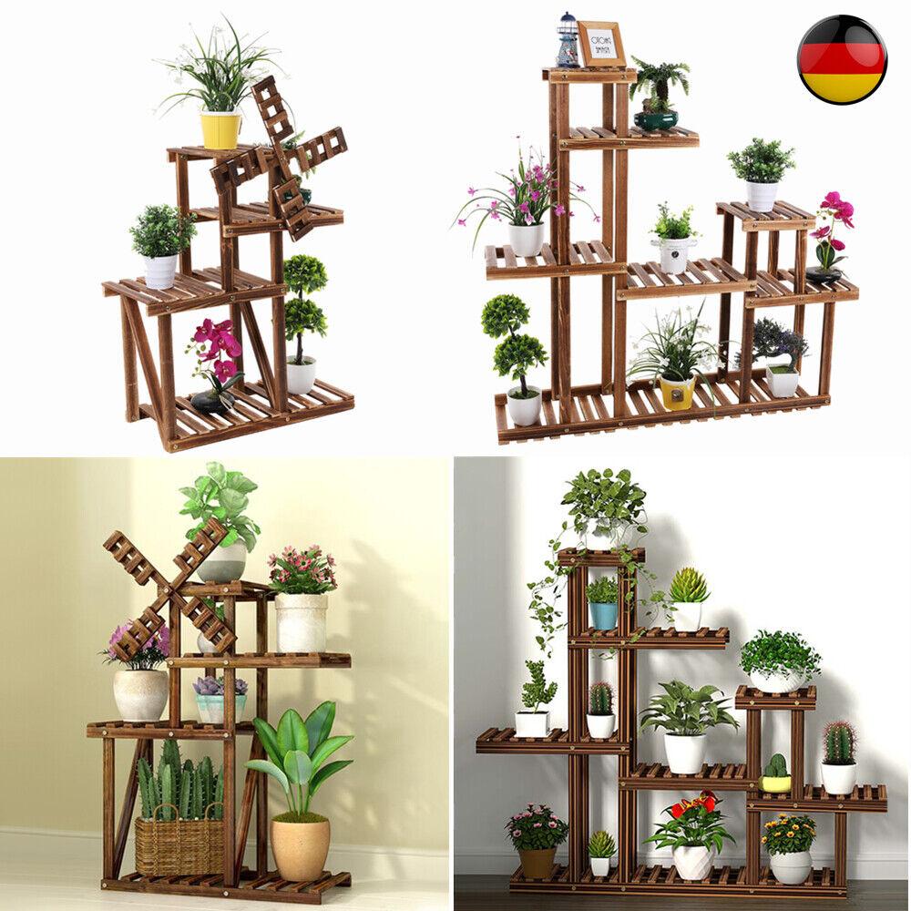 Pflanzentreppe Blumentreppe Blumenregal Pflanzregal Blumenbank Mehrstockig Holz