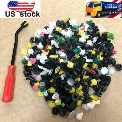 500Pcs Auto Car Fastener Clip Bumper Fender Trim Rivet Door Panel +Removal...