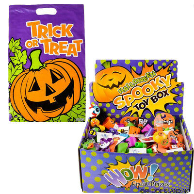 Halloween Spooky Toy Treasure Chest and Jack o Lantern Trick or Treat Party Loot