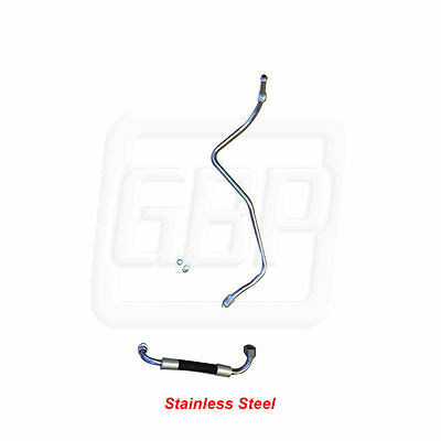 84 85 Gn Grand National Prebent Gas Feed Line Frame To Fuel Rail   2Pc Stainless