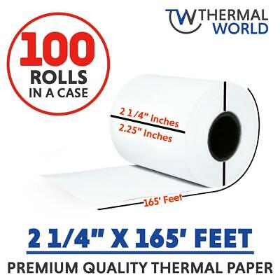 2 14 X 165 Cash Register Thermal Printer Pos Paper Roll 100 Rollscase. Fast