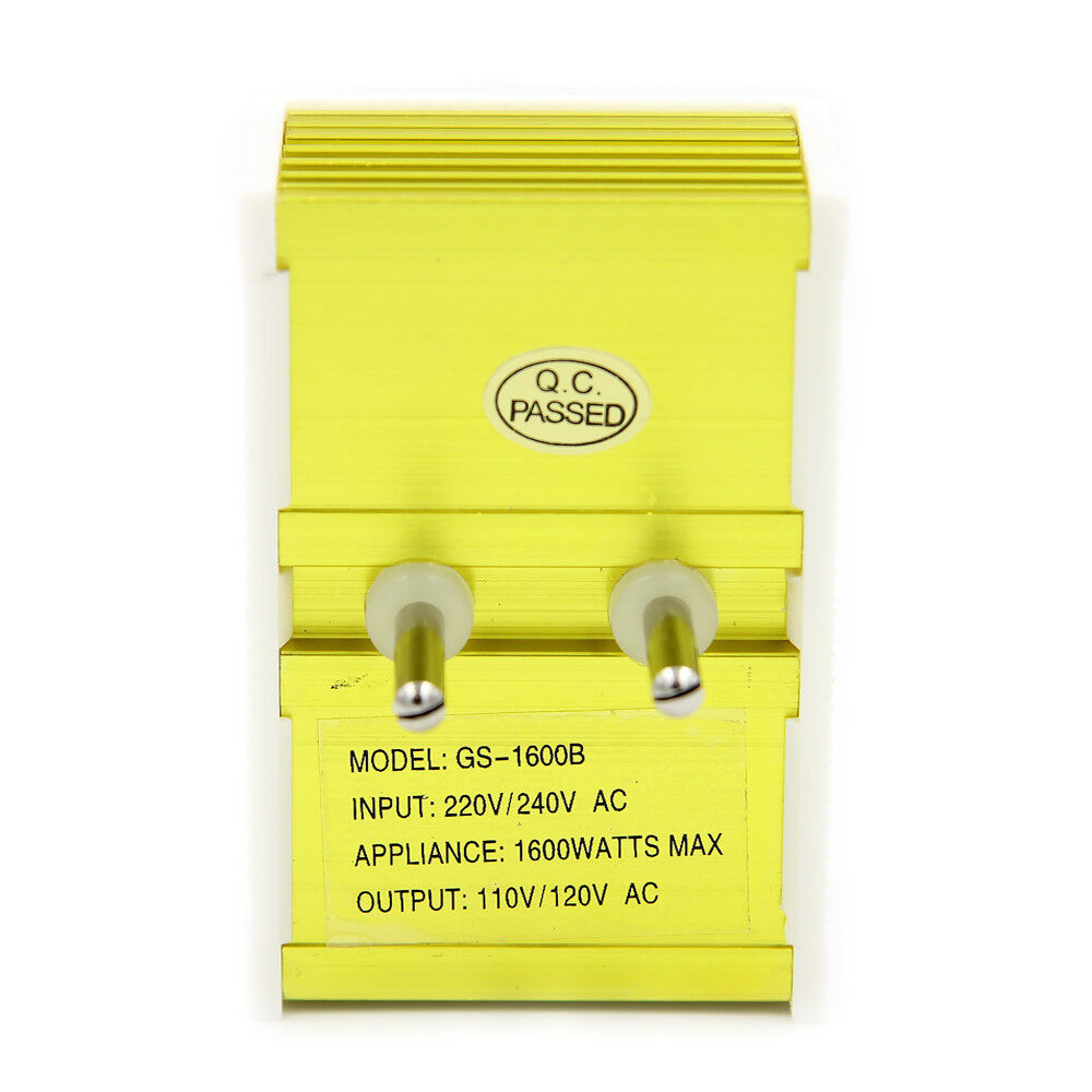 1600w Watt 220 To 110 Volt Travel Power Voltage Converter How Build And 220v Ac Led Indicator 1600 Transformer Step Down