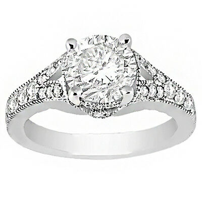 Vintage Style Ladies Natural Diamond Engagement Ring 3.10 carat Round Brillia...