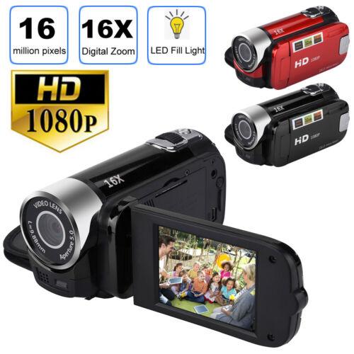 1080P HD Camcorder Digital Video Camera TFT LCD 24MP 16X Zoom DV AV Night Vision Camcorders