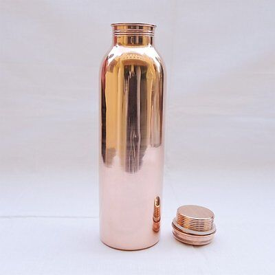 Copper Water Bottle For Ayurveda Health Benefits  Spill Proof Joint Free
