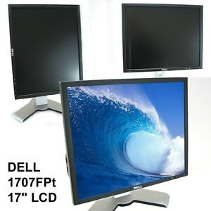"Dell 1707FPT Ultra Sharp 17"" LCD Computer Monitor with Tilt Swivel Flip Height"