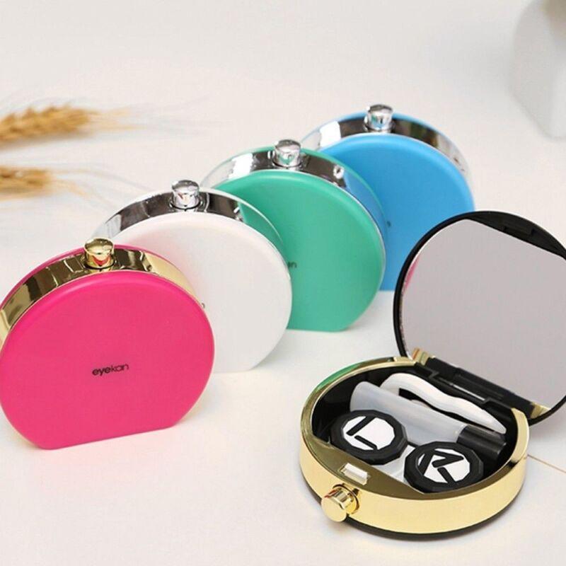 Kontaktlinsen Box Container Reinigung Flaschen Brille Tasche Storage Case