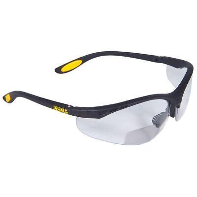 DeWalt Bifocal Reading Readers Safety Glasses CLEAR Lens 1.0, 1.5, 2.0, 2.5, (Safety Bifocals)