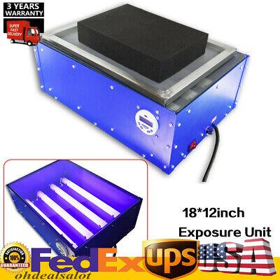60w 18x12in Exposure Unit Silk Screen Printing Plate Making Tool Kit Hotsale