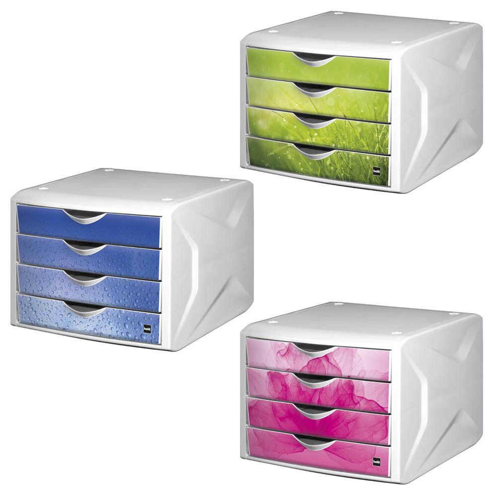 Schubladenbox 4 Schübe Briefablage Ablagebox für Din A4 BLITZVERSAND